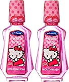 x2 Hello Kitty Dental Care Mouthwash Strawberry Flavour 237ml