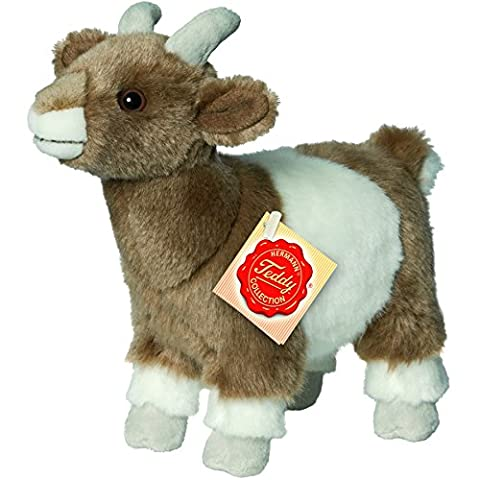 Hermann Teddy Collection 917199 22 cm Brown/White Goat Standing Plush Toy