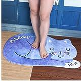 Oulensy Gato el Dormir Baño Mat Conjunto de Lana Suave té Tabla Absorbente Antideslizante Felpudo Alfombra de Baño Decoración Baño Alfombra