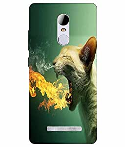 Snazzy Panther Printed Green Hard Back Cover For RedMI Note 3