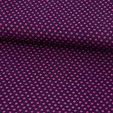 SCHÖNER LEBEN. Baumwollstoff Punkte Ø 3mm Beere pink