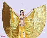 Bingo-De Ägyptische Ägypten Belly Dance Bauchtanz Tanzen Kostüm Isis Wings Wear Flügel (Gold)