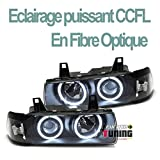 europetuning - 13712 - PHARES NEON CCFL ANGEL EYES E36 SERIE 3 BERLINE/TOURING NOIRS