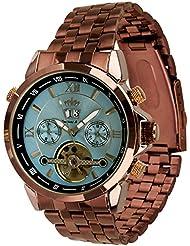 Lindberg & Sons Reloj Automático piraeus Acero/marrón/azul