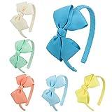 7Rainbows Mädchen Ripsband Bänder Haarreife Schleife(FS011-3)
