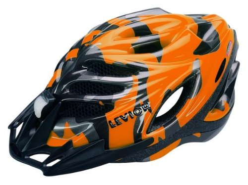 Levior Herren Fahrradhelm Tritton jr. Graphic S, orange/Anthrazit, S/49-54 cm