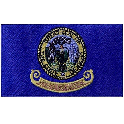 Idaho State Flagge gesticktes Abzeichen Eisen auf Sew auf ID Patch - Idaho State Seal