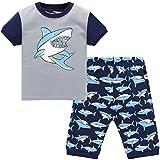 Hugbug Jungen Schlafanzug Kurz mit Haifisch 3 Jahre