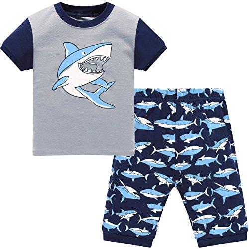 Hugbug Jungen Schlafanzug Kurz mit Haifisch 1 Jahre (Schlafanzug Jungen Kleinkind)