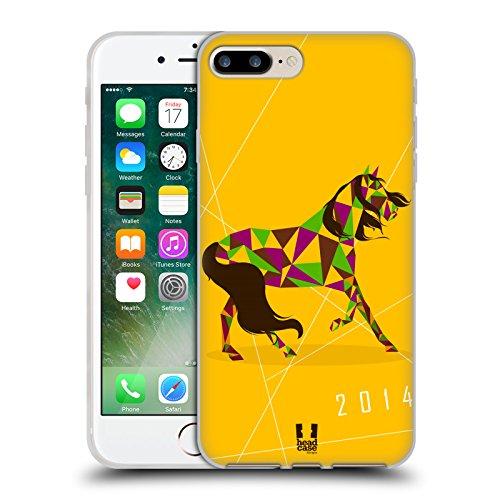 Head Case Designs Royal Année Du Cheval Étui Coque en Gel molle pour Apple iPhone 6 / 6s Couleurs Chanceux