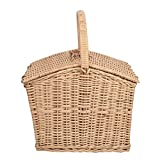 #4: A & E Beautiful Multi Purpose Brown Cane picnic Basket