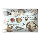 Michel Design Works, rechteckig, Glas Seifenschale Seashells