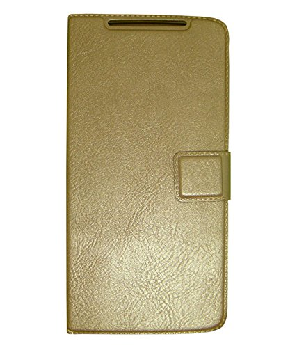 Zocardo Premium Faux Leather Flip case cover for iBall Andi 5K Sparkle - Gold - with Stand , Magnetic Lock  available at amazon for Rs.399