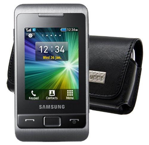 Original MTT Quertasche fuer / Samsung C3330 / Horizontal Tasche Ledertasche Handytasche Etui mit Clip und Sicherheitsschlaufe*