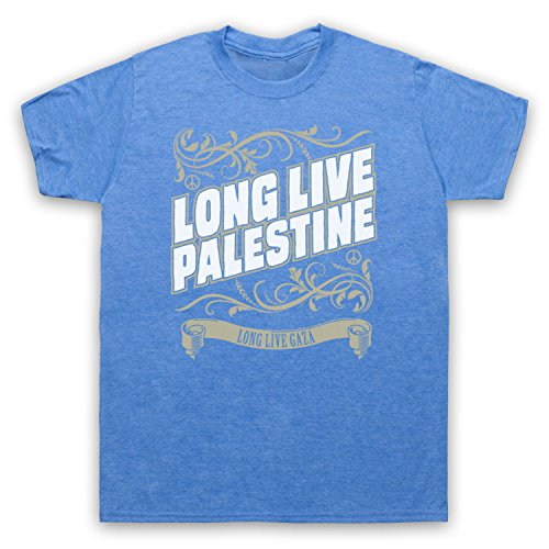 Long Live Palestine Long Live Gaza Herren T-Shirt Jahrgang Blau