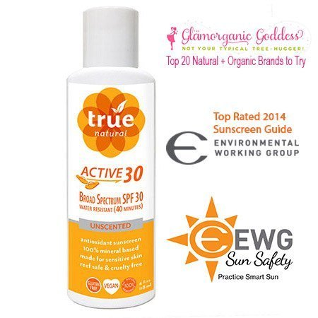 True Natural ACTIVE SPF 30, Antioxidant Sunscreen, Water Resistant, 4