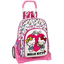 Hello Kitty Mochila con Carro Ruedas Evolution, Trolley
