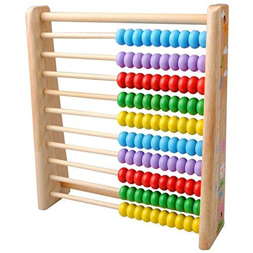 TININNA Bunt Perlen Hölzern Mathematik Abacus Rechenrahmen Soroban Zählrahmen Rechenschieber Kinder Berechnung Tool Werkzeug