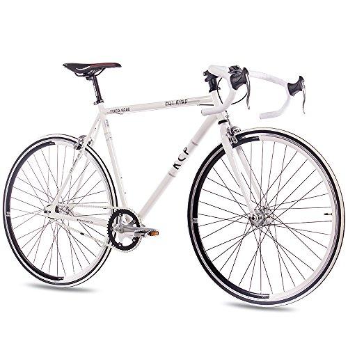 """KCP – FG-1 ROAD Bicicleta de carretera, tamaño 28"""" (71,1 cm), color blanco, 1 velocidad, 59 cm"""