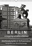 B E R L I N - einzigartig schlaflos effektvoll (Wandkalender 2019 DIN A4 hoch): Berliner Stadtlandschaften in Schwarz/Weiss, fotografiert von Silva ... (Monatskalender, 14 Seiten ) (CALVENDO Orte)