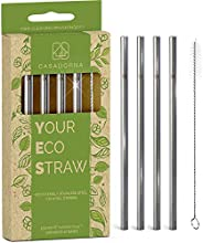 """Stainless Steel Reusable Drinking Straws 6"""" Short & Safer Straws for Kids, Coffee, Bar, Cocktail Glas"""