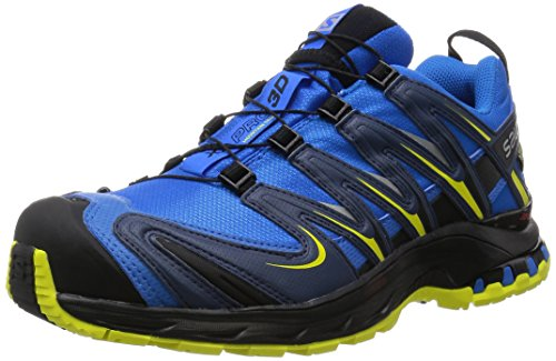 Salomon L38155400, Zapatillas de Trail Running para Hombre, Azul (Bright Blue / Slateblue / Corona Yellow), 42 2/3 EU