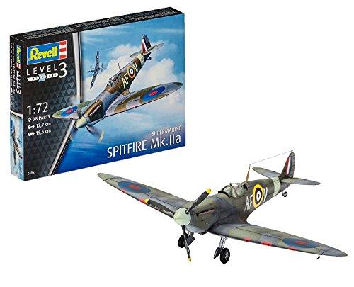 Revell Maqueta de avión 1: 72–Spitfire MK.IIA en Escala 1: 72, Nivel 3, réplica exacta con Muchos Detalles, 03953