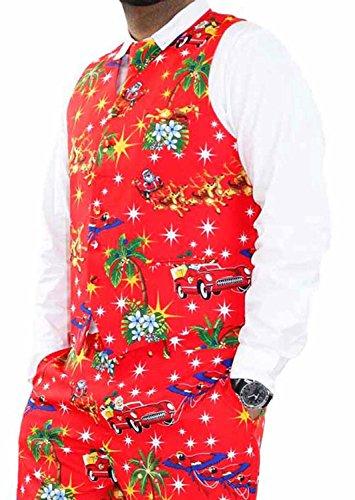 Il vestito operato dal partito di Chistmas degli uomini della novità ansima i costumi del giacinto del cappotto WaistCoat-Red