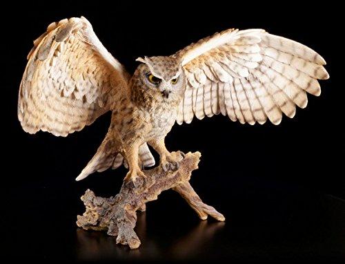Figurine de jardin – Grand hibou sur tronc d'arbre – Oiseaux Jardin Figurine