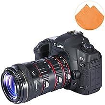 First2savvv XJPJ-CCW-08E07 tubo de extensión macro de con enfoque automático para cámaras fotográficas Canon EOS 50D 60D 60Da 70D 7D 5D 6D 760D + naranja paño de limpieza