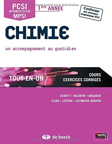 Chimie PCSI/MPSI - 1re anne Tout-en-un
