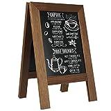 DISPLAY SALES Kundenstopper Holz MINI Noir Tischaufsteller DIN A4 Kreidetafel Menükartenhalter Gastronomieaufsteller