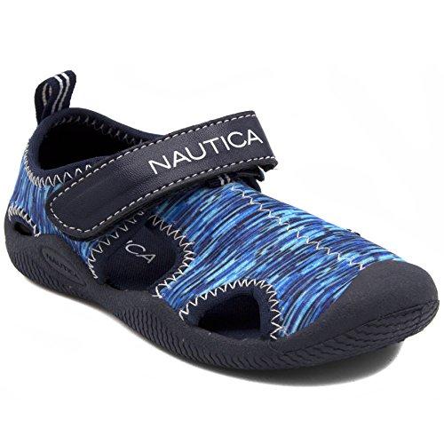 Nautica Kids Kettle Gulf Protective Water Shoe,Closed-Toe Sport Sandal-Blue Multi 2-7
