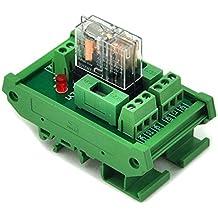 ELECTRONICS-SALON montaje en carril DIN fundido DPDT 5A alimentación del relé Módulo de interfaz, g2r-212V DC relé.
