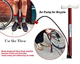 #7: High Pressure Deluxe/Strong Steel Air Pump for Bicycle, Car, Ball, Motorcycle - Inflatable Air Pump | Floor Air Pumps