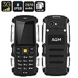 AGM M1Handy 3G, P68 wasserdicht, stoßfest, staubdicht, Dual SIM, mit allen Telefonbetreibern kompatibel