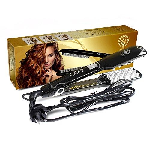 Voloom Volumizing Hair Iron, Haar-Volumizing-Eisen-flaches Eisen, LCD-Anzeige 2018 von UBWell. Benötigen Sie vor dem Einsatz einen UK-Adapterstecker.