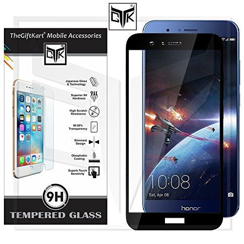 TheGiftKart Honor 7X Tempered Glass - Edge-To-Edge Full Screen Coverage Premium HD Full Screen Tempered Glass (Black)