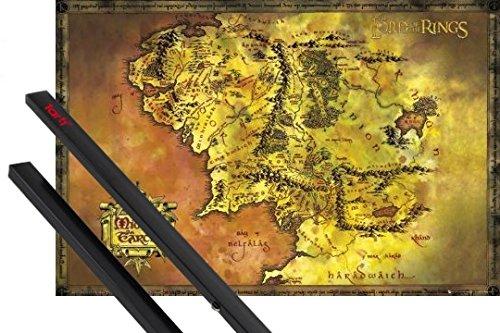 1art1 El Señor De Los Anillos Póster 91x61 cm Mapa