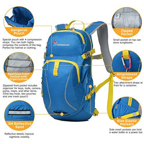 Mardingtop Fahrradrucksäcke Fahrrad Schulter Rucksack Wander Reisetasche Backpacks für Outdoor Radsport Reiten Bergsteigen Schwarz 1