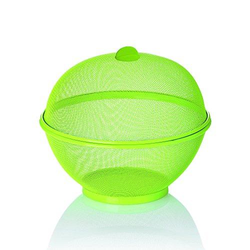 Kela 11450 Como Corbeille à fruits Métal Vert 26,5 x 26,5 x 24,5 cm