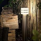 Philips Hue LED Wegeleuchte Tuar Stahl Gebürstet inkl. Hue White | Hue-Stehleuchte, Außenlampe
