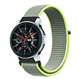 Correas para Relojes, Zolimx Reemplazo Suave Nylon Deportes Bucle Pulsera Banda para Samsung Galaxy Watch 42mm (Verde)