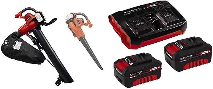 Einhell Akku-Laubsauger GE-CL 36/230 Li E Power X-Change (Li-Ion, 18 V, 230 km/h, max. 225 m³/h, 45 L Fangsack, Turboschalter, inkl. Saug-/Blasrohr, 2x 3 Ah Akku und Twincharger)