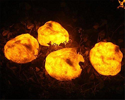 ELEGENCE-Z Solar Licht 4LED 0.4W Kreative Beleuchtung Stein Licht Terrasse Gartenansicht Licht Rasen...