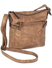 310a9968e156e Jennifer Jones Taschen Damen Damentasche Handtasche Schultertasche  Umhängetasche Tasche klein Crossbody Bag hellgrau   jeans-blau (3121)…