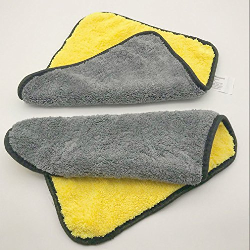 Chiffons de nettoyage Microfibre Séchage Serviette Nettoyage de voiture / Détaillant Tissu à séchage rapide GRANDE TAILLE Entretien de la voiture (30cm x 30cm) parfait pour nettoyer
