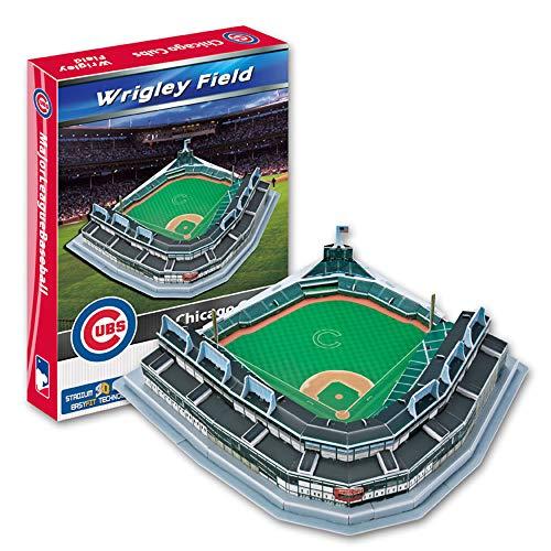 Sportstadion 3D-Modell, MLB Chicago Cubs Mannschaftsspiel Wrigley Baseball Field Modell Fans Souvenir DIY Puzzle, 12