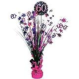 Feste Feiern Geburtstagsdeko Zum 60 Geburtstag I 1 Teil Tischkaskade Pink Schwarz Silber Party Deko Set Happy Birthday