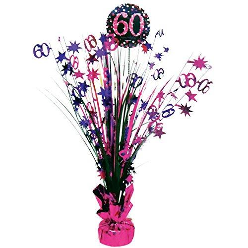 (Feste Feiern Geburtstagsdeko Zum 60 Geburtstag I 1 Teil Tischkaskade Pink Schwarz Silber Party Deko Set Happy Birthday)